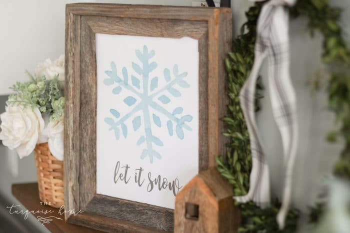 Let It Snow winter free printable! - yay!!