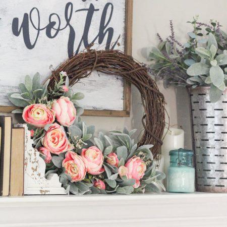 DIY Simple Spring Wreath with Peonies + 14 more spring wreaths!