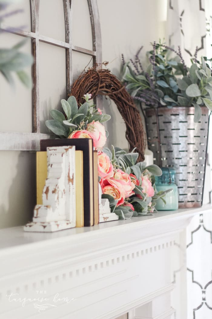 White chippy corbels are one of my favorite finds at Hobby Lobby!