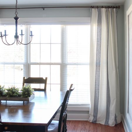 New Curtains and a Budget-friendly Curtain Hack!