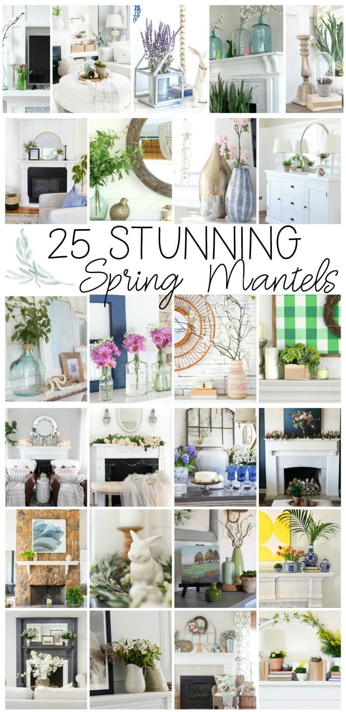 25 Stunning Spring Mantels and Spring Vignettes!