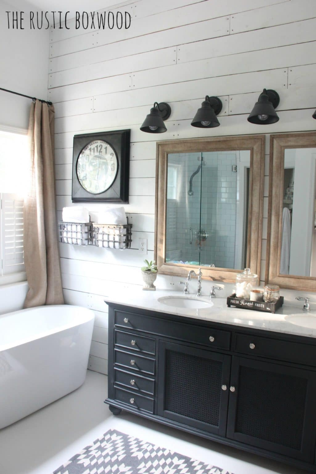 Black Rustic Bathroom Vanity: Essential Elements Of A Farmhouse Bathroom