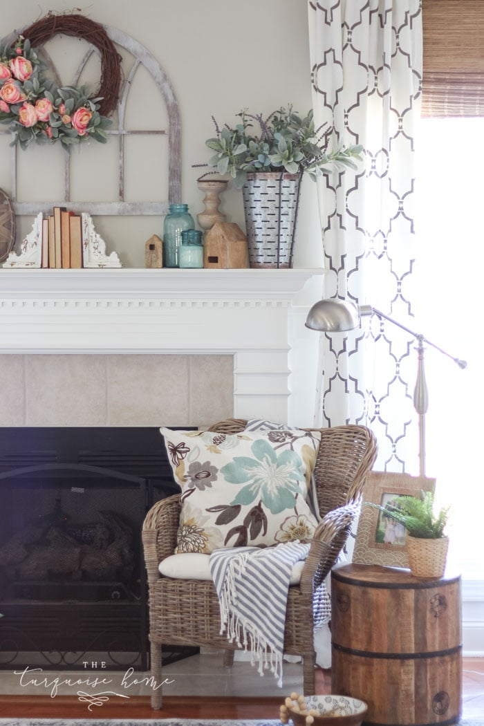How To Decorate A Loft Living Room Upstairs: How To Decorate Your Mantel For Spring