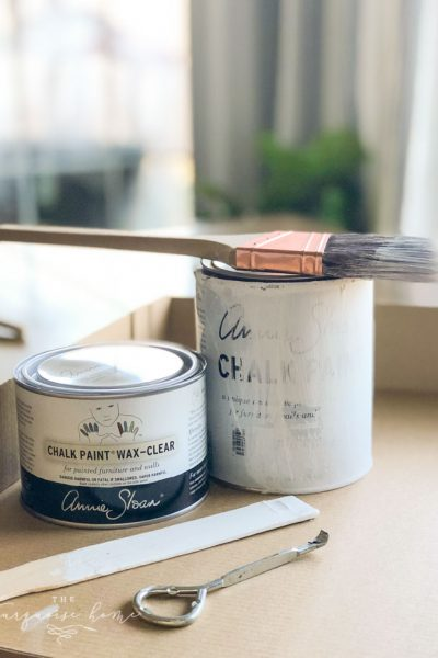 All the supplies you would need for painting a table with Annie Sloan Chalk Paint®. How to Use Annie Sloan Chalk Paint® - a tutorial for beginners