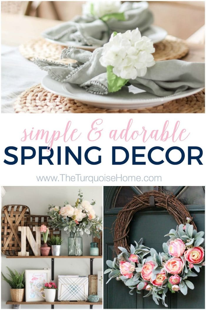 Simply Adorable Spring Decor - with a farmhouse flair!