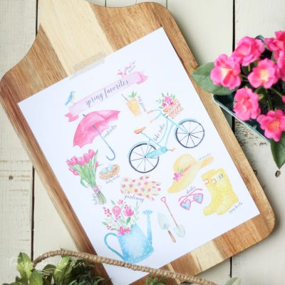 Spring Favorites Free Printable