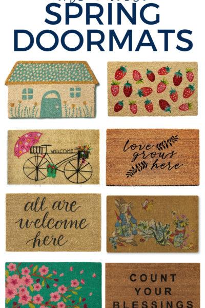 The Cutest Spring Doormats for your front door!