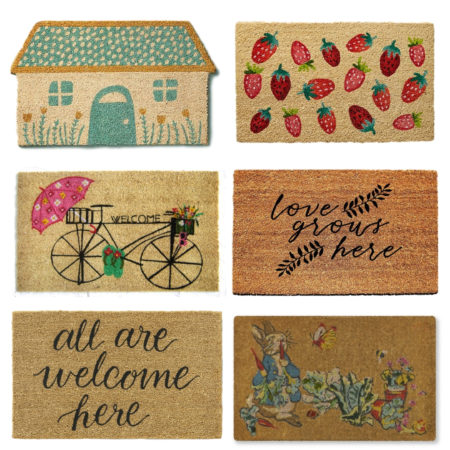The Cutest Spring Doormats for your front door!