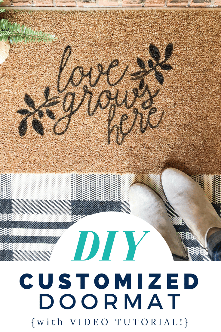 DIY Customized Doormat with VIDEO tutorial!!