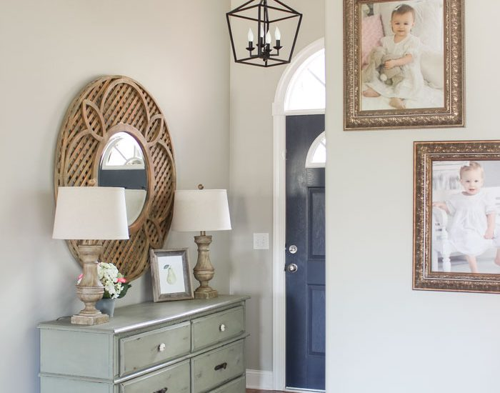 Darlana Pendant Lantern Knock-off for the Foyer! LOVE this light for less than $100!!