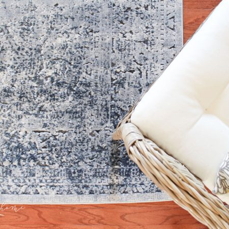 A Vintage Distressed Blue Rug for the Living Room + It's OK to Change Your Mind