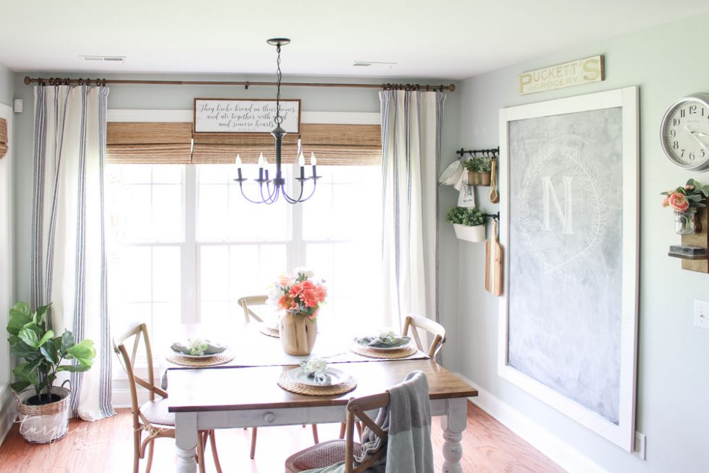 Add texture to the walls with items of interest instead of just art! Think creatively to give life to your space in any kitchen makeover! | Kitchen Before and After | Kitchen Makeover Ideas | DIY Kitchen Makeover | Kitchen Remodel Before and After