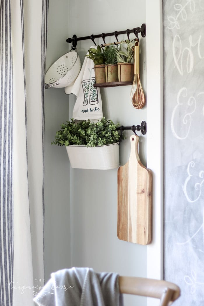 The IKEA Fintorp Rails hanging system is perfect for adding interest and dimension to any plain ol' wall!
