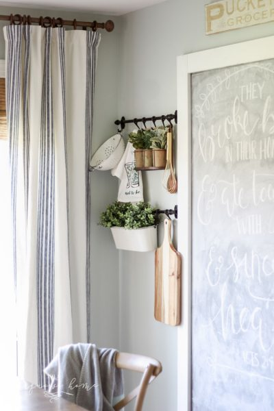 Th IKEA Fintorp Rails hanging system is perfect for adding interest and dimension to any plain ol' wall!