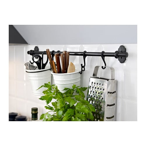 Ikea Kitchen Hanging Rail: IKEA Fintorp Hanging System In The Kitchen
