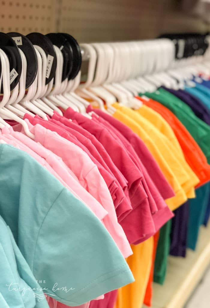 Get t-shirts for craft projects in any color at Hobby Lobby!