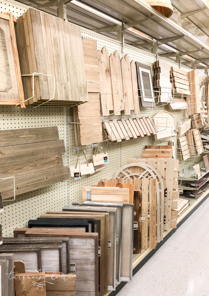 The craft wood panel section is amazing at Hobby Lobby! Everything your crafting heart desires!