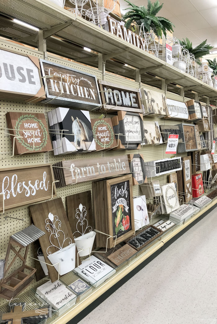 Signs galore at Hobby Lobby!