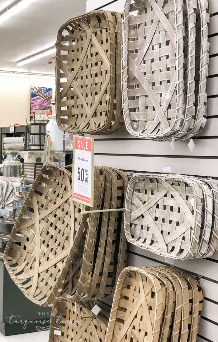Hobby Lobby has tons of tobacco basket replicas for sale!