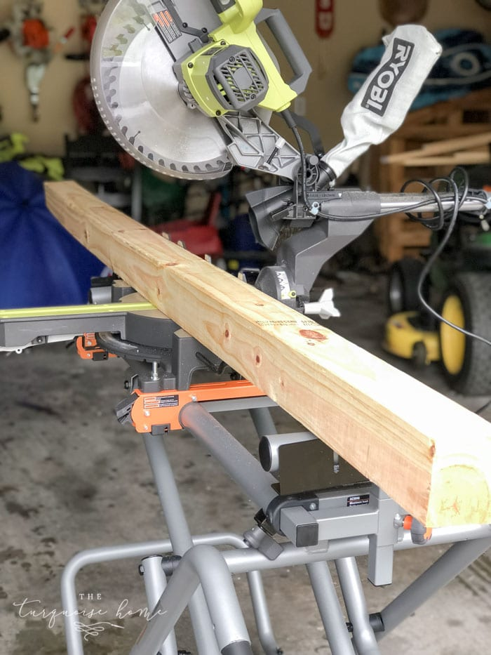 Awesome 12 inch sliding miter saw with a laser. #ryobination #tools #buildyourownathome #mitersaw