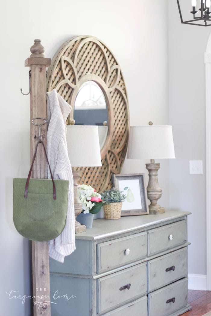A DIY Wooden Coat Rack is a super easy first building project, perfect for learning how to build your own furniture! #buildyourownathome #diyproject #diy #buildlikeagirl