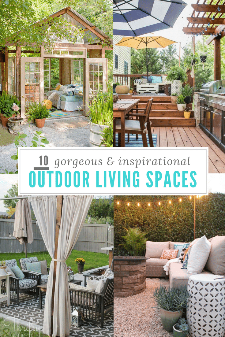 10 Outdoor Living Spaces to Inspire!!