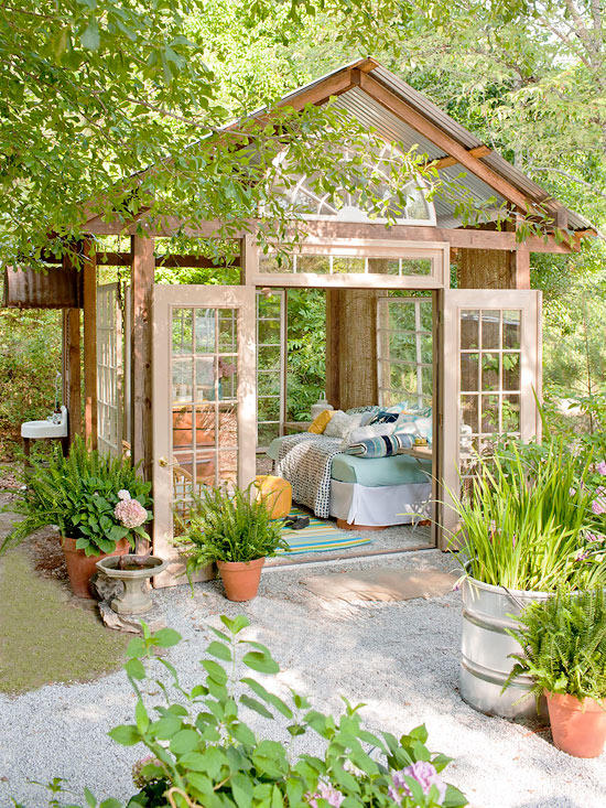 Outdoor Living Spaces - the she shed of our dreams!