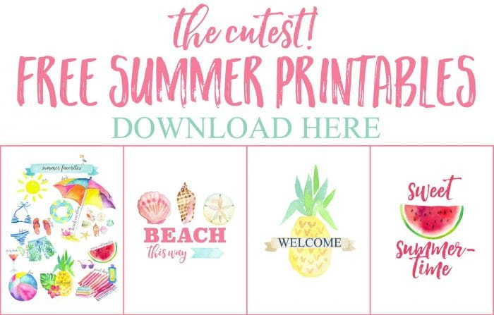 4 FREE Summer Printables - just for you!