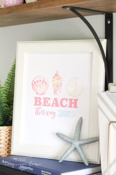 Free Summer Printable - Beach This Way!