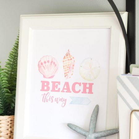 Free Summer Printable - Beach This Way!