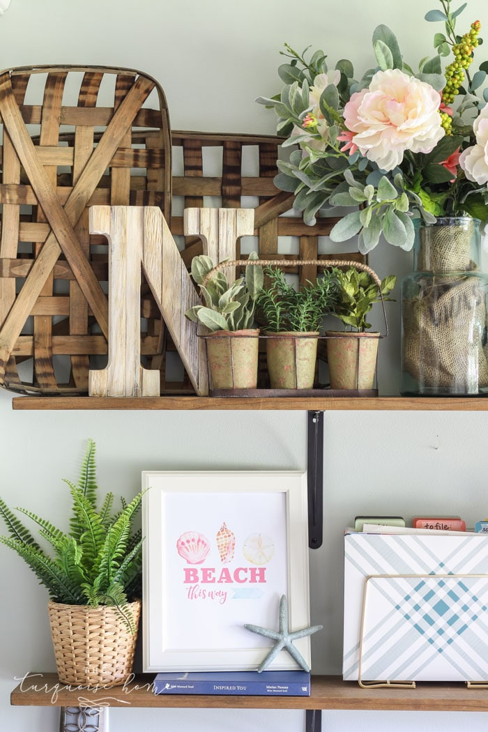 Summer Open Farmhouse Shelves