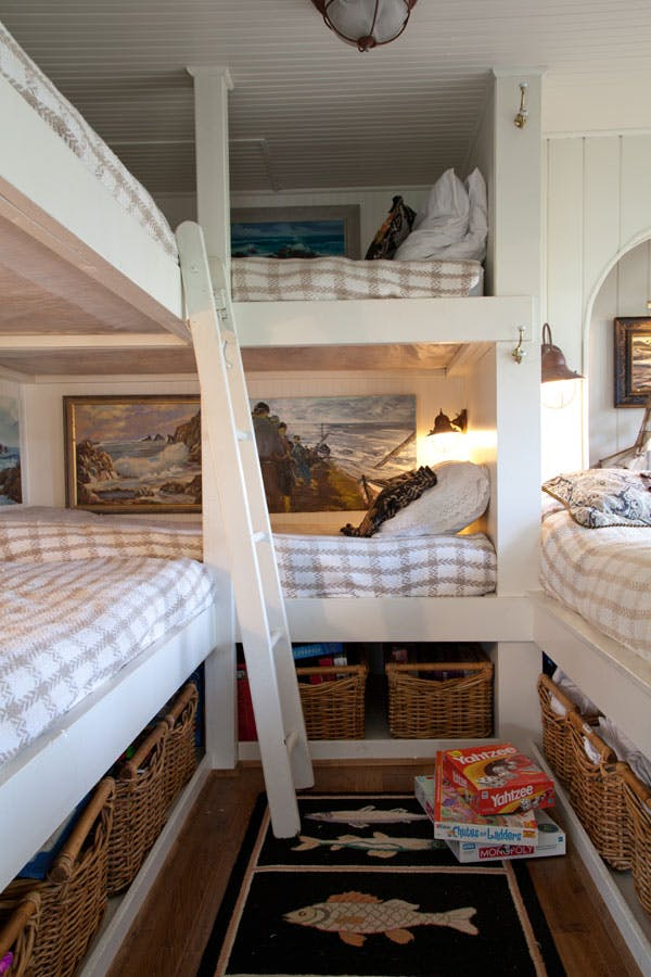 Built In Lake House Bunk Room