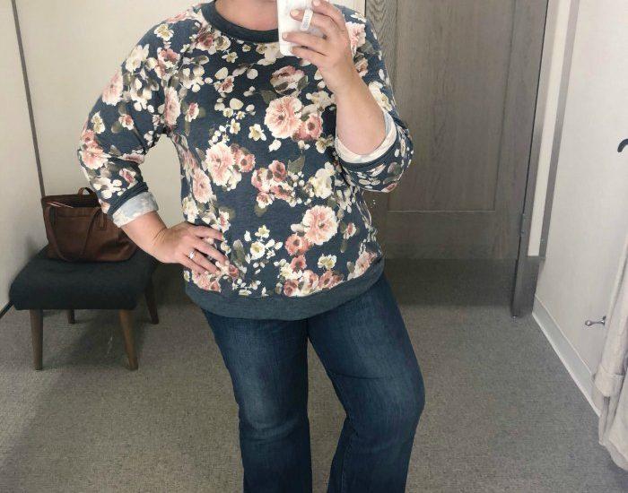 The Nordstrom Anniversary Sale Green Floral Caslon Sweatshirt
