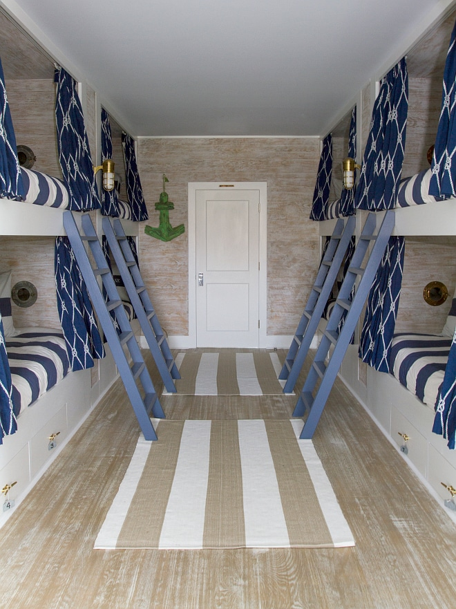 Nautical Lake House Bunk Room