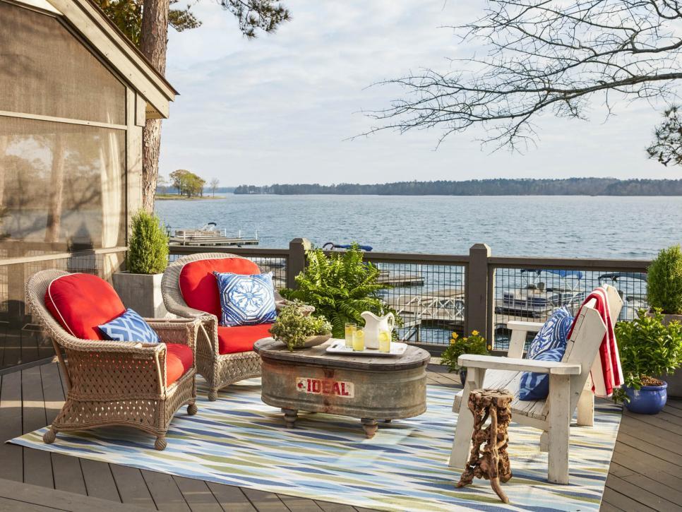 Gorgeous Lake House Deck