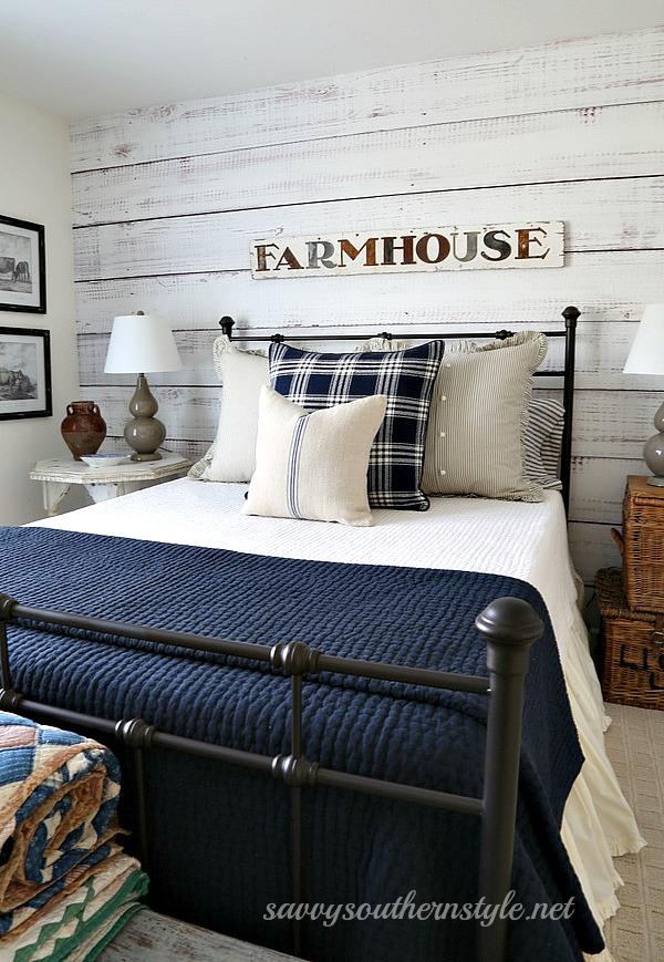 Navy Farmhouse Bedroom