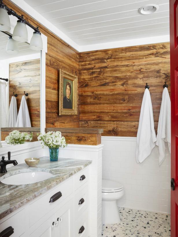 Rustic Lake House Bathroom