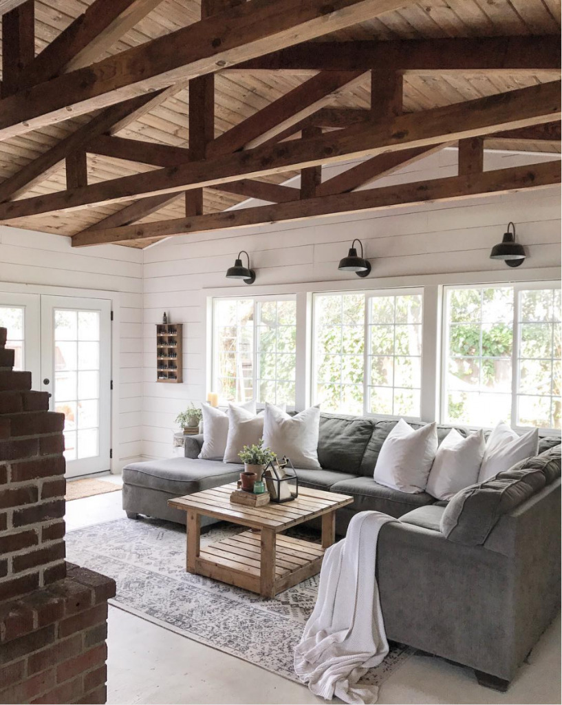 Rustic Shiplap Living Room from The Rustic Pallet
