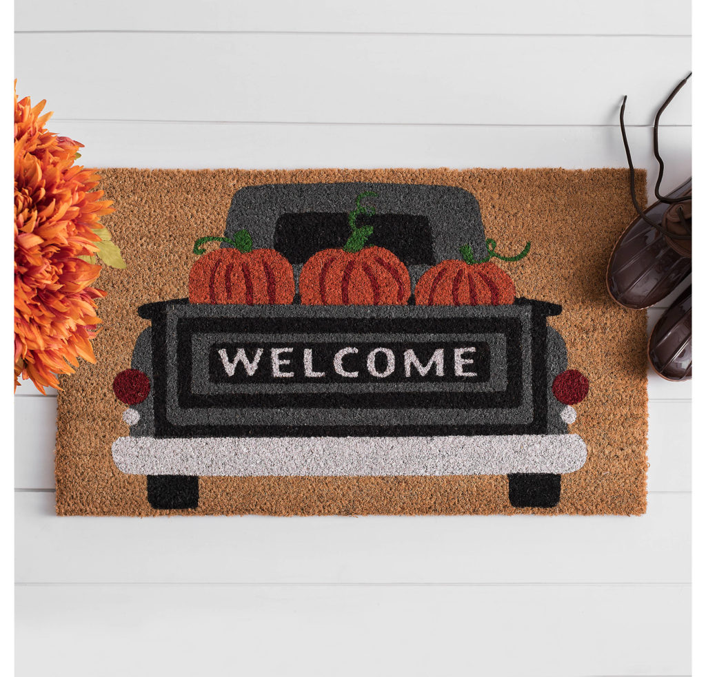 Fall Doormats | Fall Doormat Ideas | Pumpkin Truck Welcome Doormat