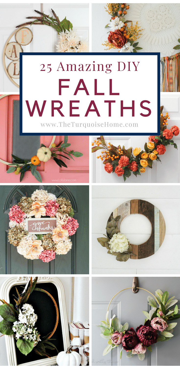 25 Amazing DIY Fall Wreaths
