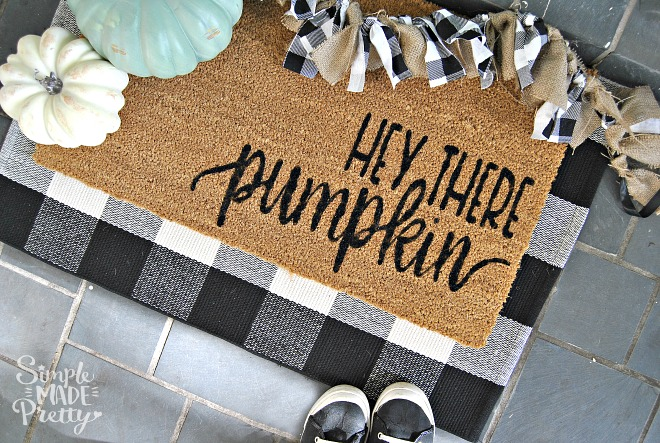 DIY Hey There, Pumpkin Fall Doormat