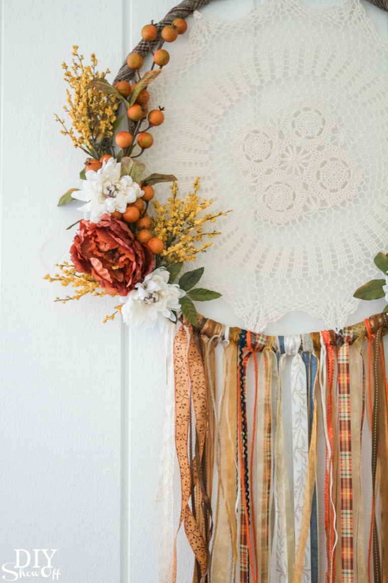 DIY Fall Dreamcatcher Wreath