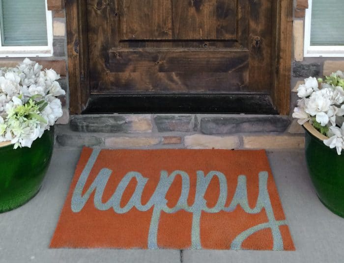 """Happy"" Fall Doormat"