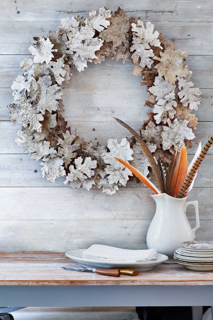 Birch Leaves Fall Wreath