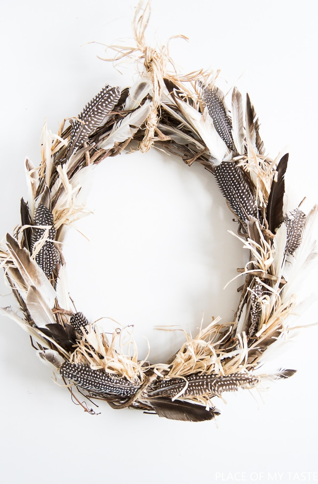 DIY Boho Feather Fall Wreath