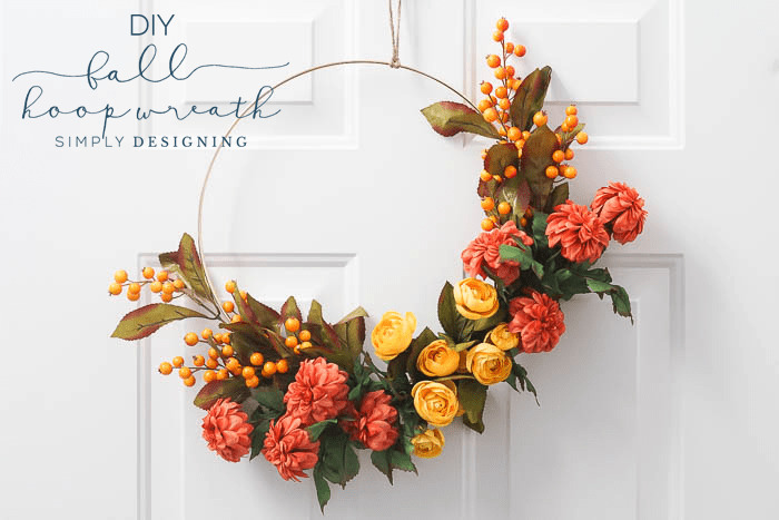 How to Make a Fall Hoop Wreath from Simply Designing
