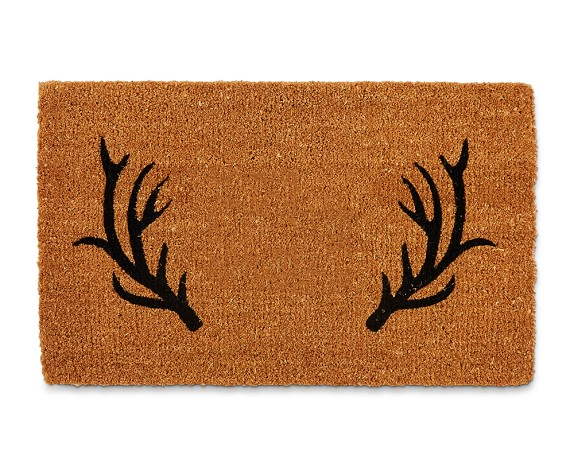 Antler Doormat with or without a monogram