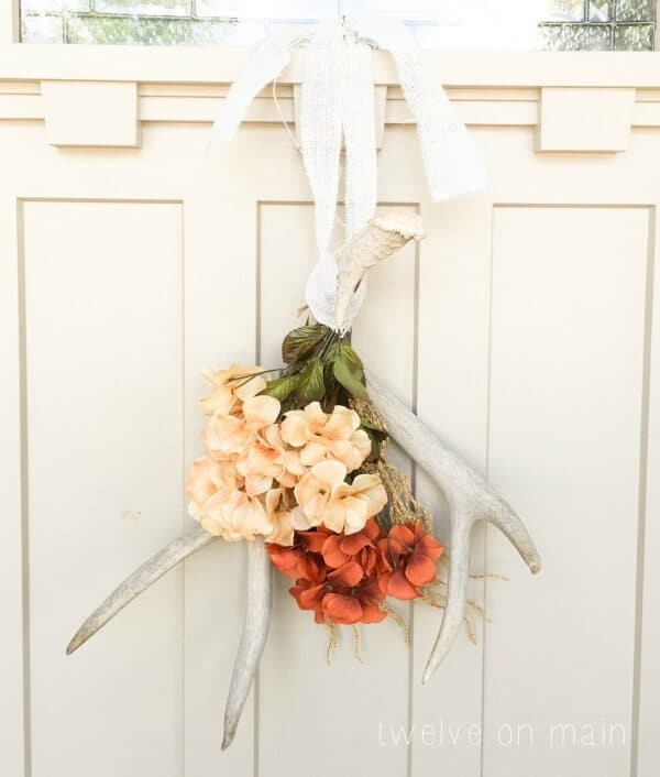DIY Antler Fall Wreath