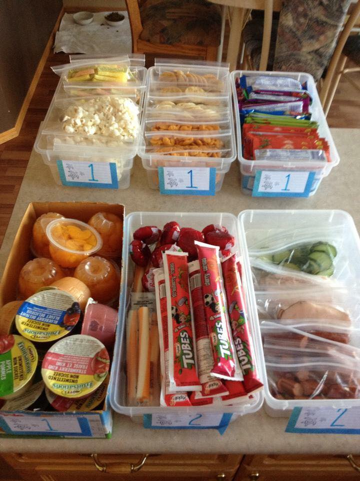 Back-to-School Lunch Packing Station