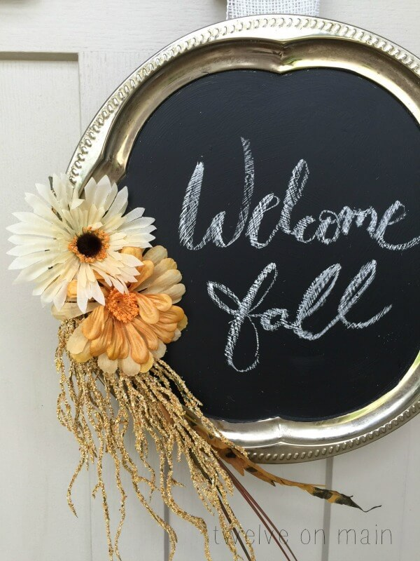 Chalkboard Fall Wreath